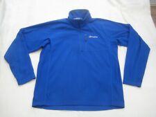Berghaus 1/4 Zip Neck Blue Fleece Top - Size Large