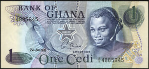 Ghana P.13c 1 Cedi 1976 (1) UNC