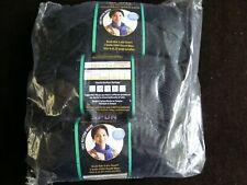 NIP Set of  3 Lion Brand Skein/Ball Micro Spun Sport Wool Yarn Color #153 Ebony