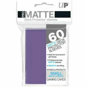 60 Ultra Pro Purple Pro-Matte Deck Protectors. Trading Card Sleeves.