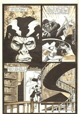 Planet of the Apes #16 p 3 - Fighting Scene - 1991 art by M.C. Wyman