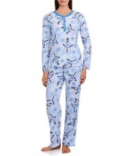 Disney Frozen Olaf Non Footed Waffle Pajama Set 2 Piece Fleece NWT 2XL LAST ONES