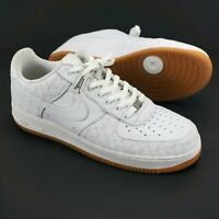 Nike AF1 Low Premium - White/White/Gum-Light Brown Gum Sole  318775-111 - US 14