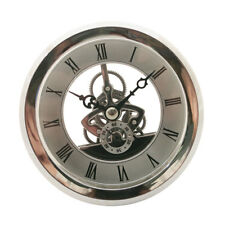 Quartz Clock Fit-up Insert with Roman Numeral Quartz Movement Silver Trim
