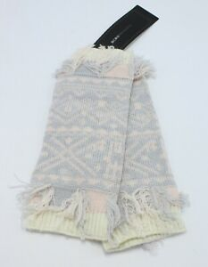 New Bees Knees Knit Clipped Jacquard Fingerless Mittens by BCBGMAXAZRIA #FG12