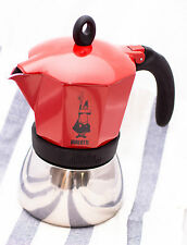 Bialetti Moka Induction Coffee Maker 6 cup espresso Red Percolator Stovetop