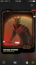 Topps Star Wars Digital Card Trader Brown Savage Opress Base Variant Award