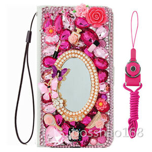 For Motorola MOTO G Power (2020) Case Bling luxury Leather stand wallet cover
