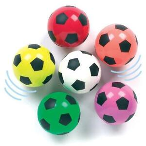6 Bouncy Jet Balls Football Birthday Party Loot Bags Fillers Kids Toys 30mm