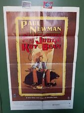 """1972 THE LIFE AND TIMES OF JUDGE ROY BEAN Original Poster 27""""x41"""" Paul Newman"""