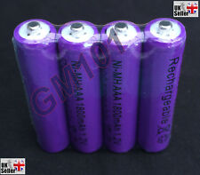 AAA 1800mAh Rechargeable Batteries x 4