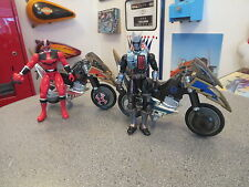 POWER RANGERS MOTORCYCLE AND RIDERS