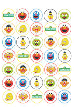 35x SESAME STREET Edible Rice/Wafer PAPER Cake Cupcake toppers PRECUT