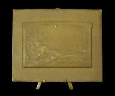 Médaille Scène de genre 1913 sc Exbrayat citation de Leconte de Lisle Medal