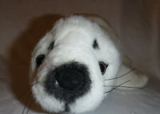 "Soft Classics Realistic White Seal Pup 18"" Plush Soft Toy Stuffed Animal"