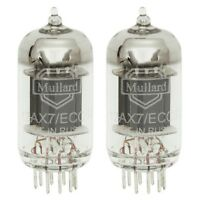 Brand New In Box Gain Matched Pair Mullard Reissue 12AX7 Vacuum Tubes LONG Plate