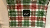 """Set of 4 Lauren (Ralph) Red/Green/White Plaid Placemats NEW in Package 14"""" x 19"""""""