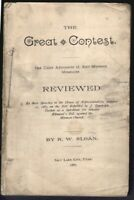 1887 Defense of Mormonism LDS Pamphlet Pro-Polygamy R.W. Sloan