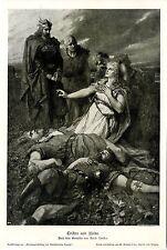 Der Künstler Ferdinand Leeke Tristan und Isolde Historischer Kunstdruck 1905