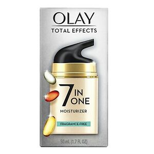 Olay Total Effects 7 in One Anti-Aging Moisturizer Fragrance-Free,1.7 fl oz. NEW