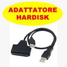 ADATTATORE SATA USB 2.0 SUPPORTA HD HARD DISK 2.5 CAVO SATA