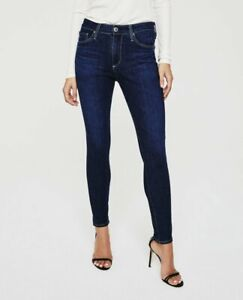 AG Adriano Goldschmied 28 Jeans The Farrah Skinny High Rise Dark Wash