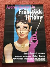 Frühstück bei Tiffany Kinoplakat Poster A1, Audrey Hepburn, George Peppard