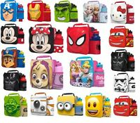 3D Children Insulated Lunch Box Bag and Sport Water Bottle Kids Set School Gift