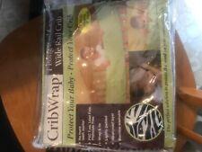Preowned Black White crib wrap crib rail cover protector