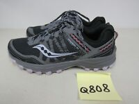 WOMENS SAUCONY GRID EXCURSION TR12 GRAY PURPLE RUNNING SHOES SIZE 9.5W Q808
