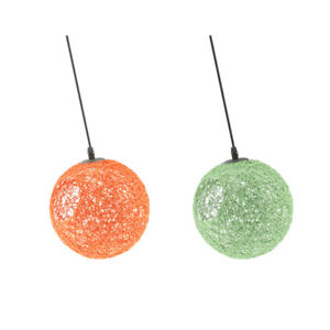 2x Rattan Globe Lampshade Ceiling Pendant Lampshade Bar Home Shop Decoration
