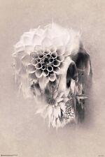 FLOWER SKULL POSTER 24x36 GOTHIC FANTASY ART 10330
