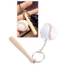 Key Rings Baseball Sport Keychain Wooden Pendant Car Bag Decoration Unique Gifts