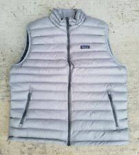 Patagonia Men's Down Sweater Vest 800 Fill Power Goose in Grey Sz 2XL XXL NEW