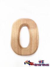 "Medium Oak Wood Alphabet Letter ""O"" Natural Brown Uppercase Home Decor Art Craft"