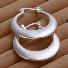Fashion CUTE 925 sterling Silver Plated Charms Hook solid women Earring jewelry