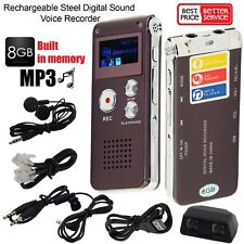 More details for 8gb digital audio/sound/voice recorder dictaphone rechargeable mp3 player