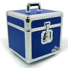 "Gorilla LP100 12"" Vinyl Record Storage Box Flight Carry Case Holds 100 (Blue)"