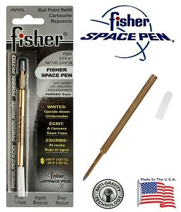 One (1) Fisher Space Pen SPR Series Silver Ink / Medium Point Refill #SPRSL