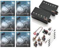 3 STRING SETS EMG 66TW BLACK NECK PICKUP DUAL MODE TW LONG SHAFT POTS /& WIRES