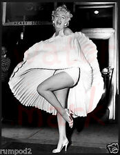Marilyn Monroe Photo Poster/17x22 inch/Black and White/Dress Blowing Up