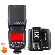 Godox VING V860II-N i-TTL 2.4G Litio Flash Speedlite+X1T-N Disparador para Nikon