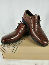 Bostonian Men Ipswich Apron Oxford Brown Leather Office Dress Shoes Size 10.5 M
