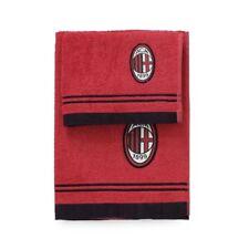 Set bagno A.C. Milan Calcio 2 Asciugamani Piccolo E Grande PS 01716