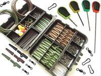 Carp Fishing Tackle Terminal End Tackle Box Weighs Lead Clips Baiting Needles