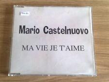 MARIO CASTELNUOVO - MA VIE JE T'AIME - RARO CD SINGOLO PROMO