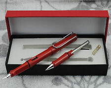Clearing Out Hero 359 Summer Color Fountain Pen Red With the Roller Pen Kits