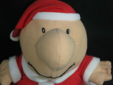 CHRISTMAS HOLIDAY ZIGGY SANTA CLAUS COSTUME RED HAT SOFTTHE PLUSH STUFFED ANIMAL