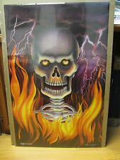 Vintage death Fire 1991 skull poster NICE