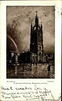 Newcastle upon Tyne England AK 1902 St. Nicholas Cathedral Kathedrale Painting